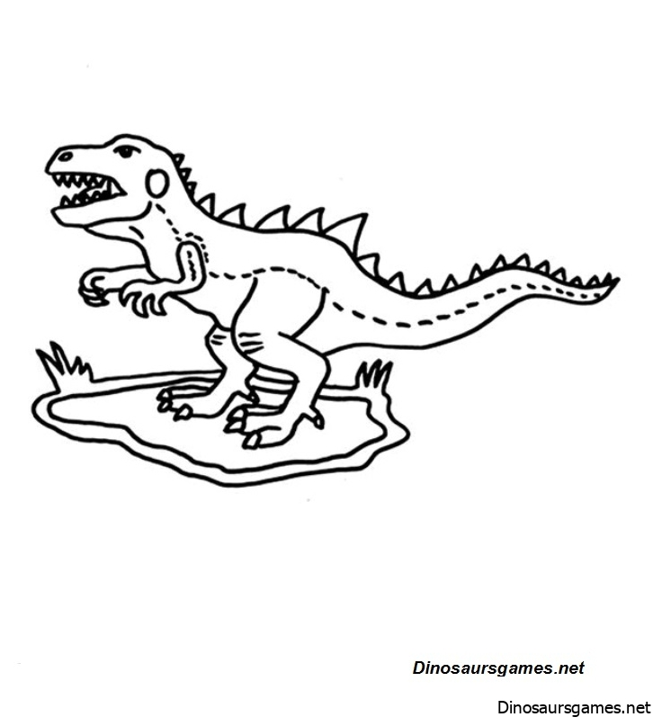 Angry Little Dinosaur Coloring Page