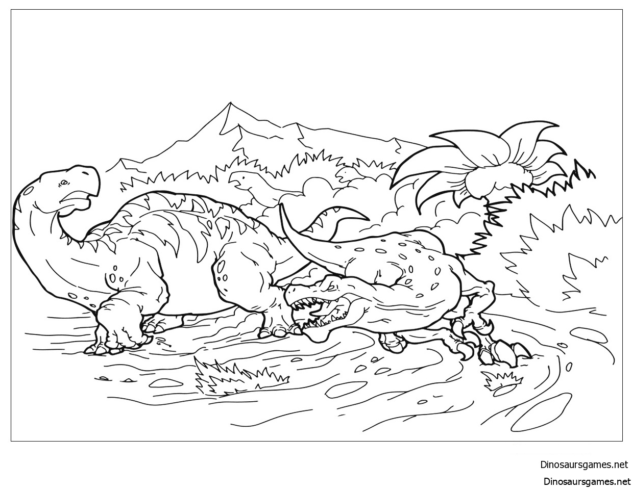 Velociraptor Hunts Coloring Page
