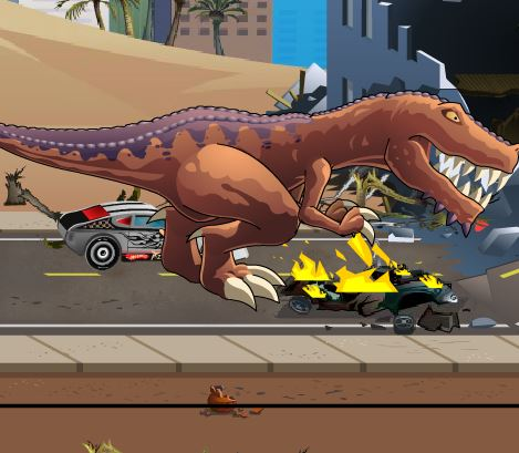 T rex rampage prehistoric pizza Game