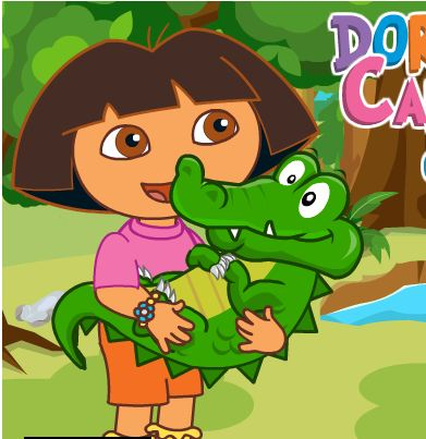 Dora Care Baby Crocodile Game