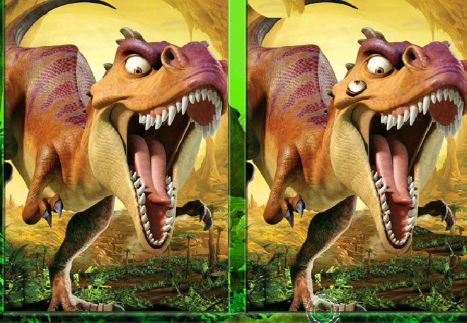 Ice age dawn of the dinosaurs spot the difference Game