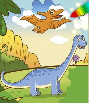 Paint The Dinosaurs Game