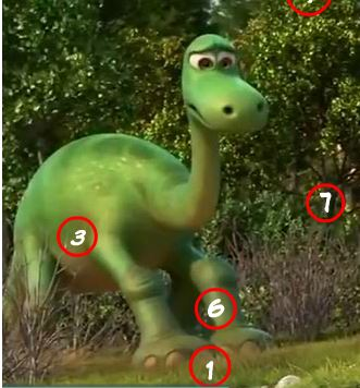 The Good Dinosaur Spot The Numbers Hint Game