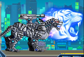 Robot Snow Tiger Game