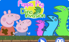 Peppa Dinosaur Invasion Game