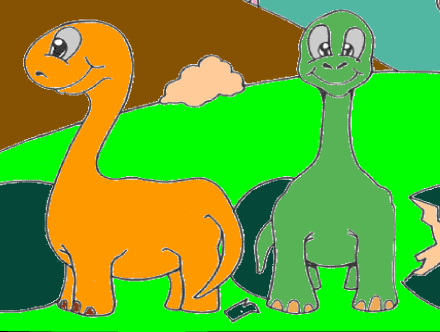 Baby Dinosaurs Coloring Game