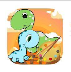 Two Cute Dinosaurs Coloring Game