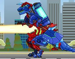 Dino Robot Tyrano Red Tricera Blue 2 Game