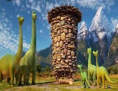 Good Dinosaur Sliding Puzzle Game