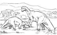 Dinosaurs Camptosaurus Plant Eating Coloring Page Game