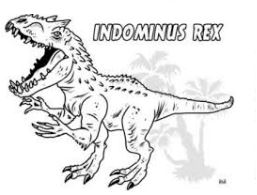 Dinosaur Jurassic Park Indominus Rex Coloring Page Game