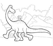 The Good Dinosaur 2 Coloring Page