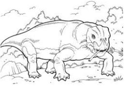Dinosaur Lystrosaurus Coloring Page Game