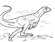 Dinosaur Lesothosaurus Coloring Page Game