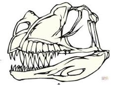 Dinosaur Bones Coloring Page Game
