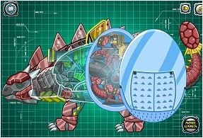 Assemble Robot Triceratops Game