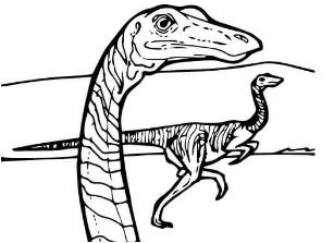 Dinosaur Gallimimus Coloring Page Game