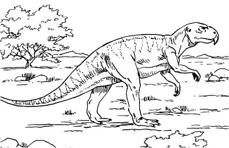 Dinosaur Psittacosaurus Ceratopsian Coloring Page Game
