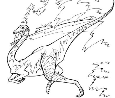 Dinosaur Ornithomimus Coloring Page Game