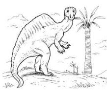 Dinosaur Ouranosaurus Coloring Page Game