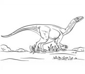 Dinosaur Jurassic Park Mussaurus Coloring Page Game
