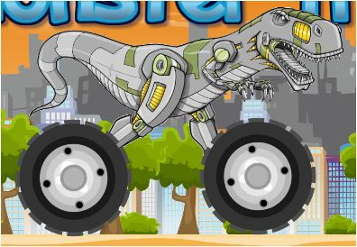 Dinosaur Monster Truck Rider Game