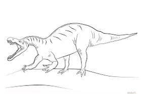 Dinosaur Jurassic World Suchomimus Coloring Page Game
