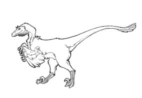 Dinosaur Raptor Coloring Page Game