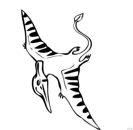 Dinosaur Flying Pteranodon Coloring Page Game