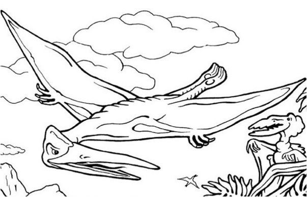 Dinosaur Flying Reptile Coloring Page Game