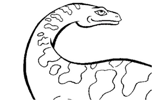 Dinosaur Massosaurus Coloring Page Game