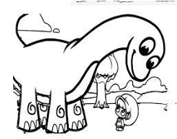 Mila And Mophle My Cute Dinosaur Coloring Page Game