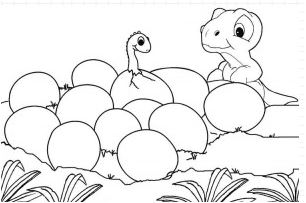 Baby Dinosaur Coloring Page Game