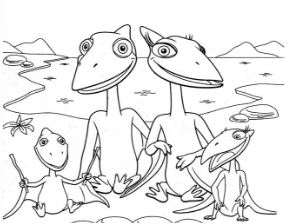 Dinosaur Train 2 Coloring Page