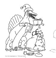 Christmas Dinosaur Coloring Page Game