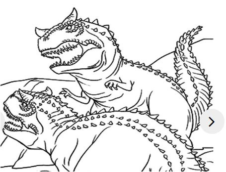 The Two Dinosaur Coloring Page