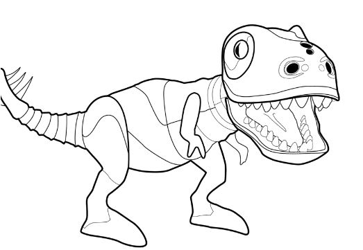 Zoomer Dinosaur Coloring Page Game