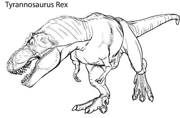 Tyrannosaurus Rex Realistic Coloring Page Game