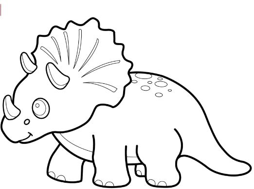 Funny Dinosaur Triceratops Coloring Page Game
