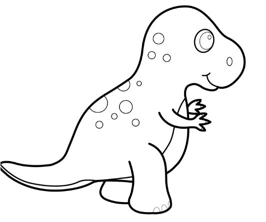 Funny Dinosaur T Rex Cartoon Coloring Page