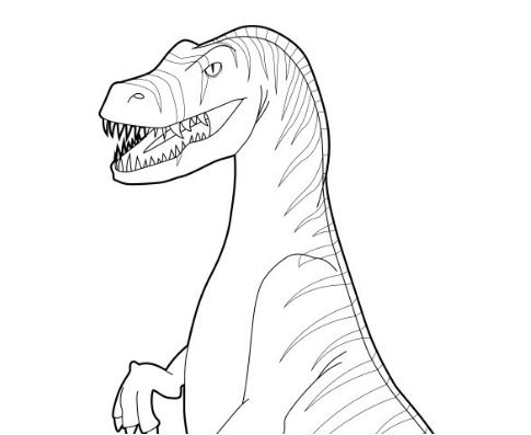 Dinosaur Velociraptor 2 Coloring Page Game