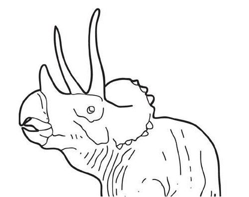Dinosaur Big Triceratops Coloring Page Game