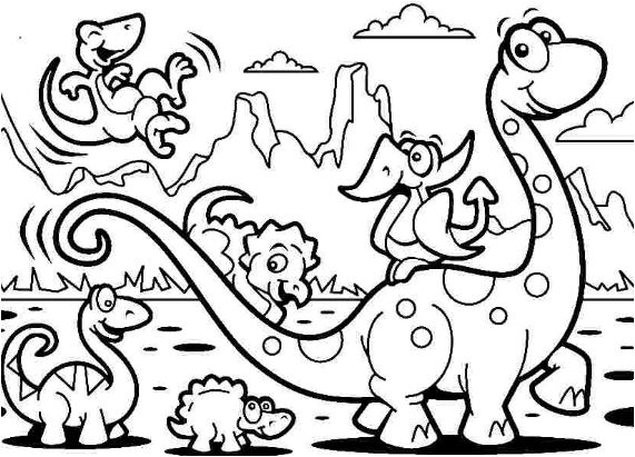 Dinosaur Adventure Coloring Page Game