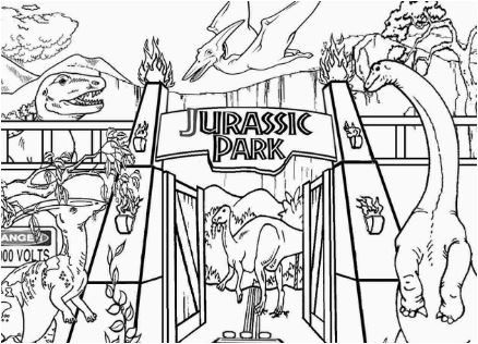 Jurassic Park Coloring Page Game