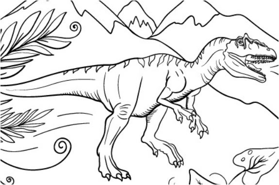 Dinosaur Allosaurus 2 Coloring Page Game