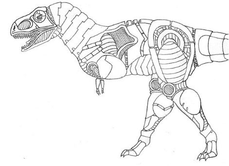Dinobots Grimlock Coloring Page Game