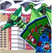 Ptera Green Transform! Dino Robot Game