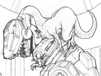 Grimlock vs Dinobot Coloring Page Game