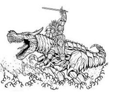 Dinobot And Robot Coloring Page