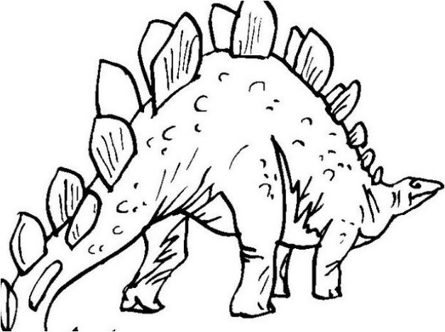 Prehistoric Stegosaurus Coloring Page Game